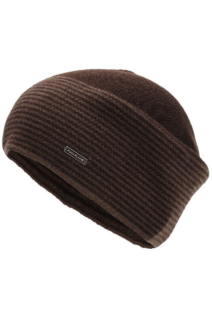 мужская шапка finn flare, коричневая