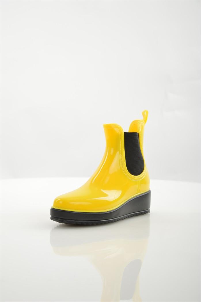 женские резиновые полусапожки glamforever, желтые