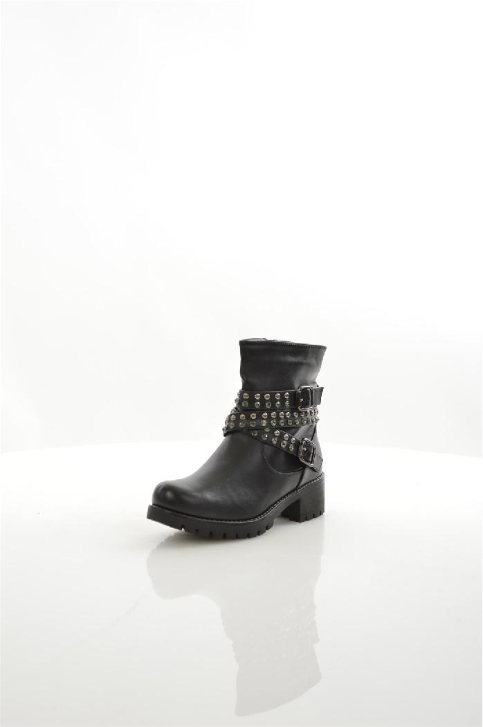 женские полусапожки на каблуке janessa, черные