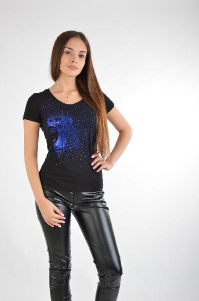 женская футболка versace, синяя