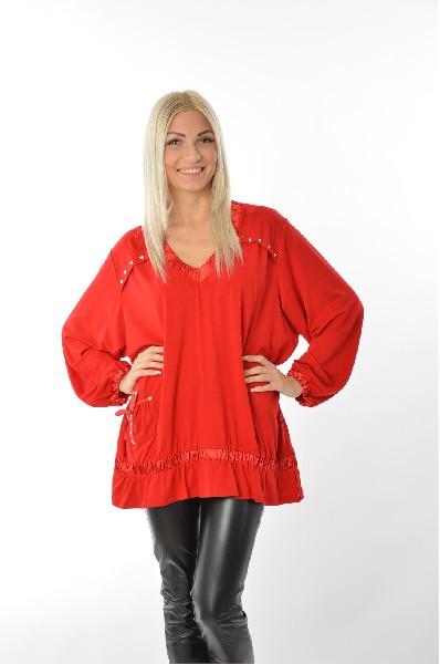 Фото - Блузу Зар-Стиль красного цвета