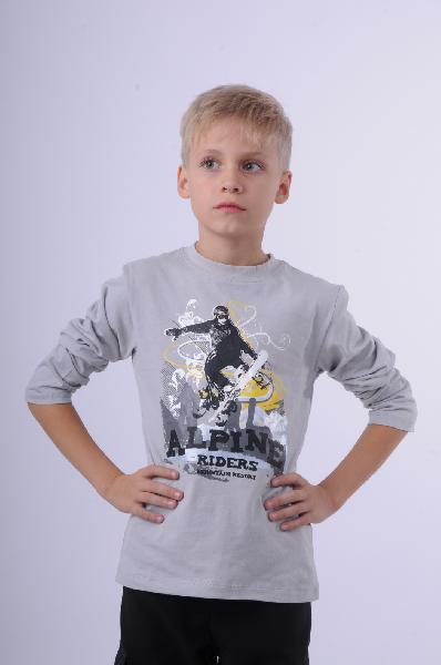 лонгслив vitacci для мальчика, серый