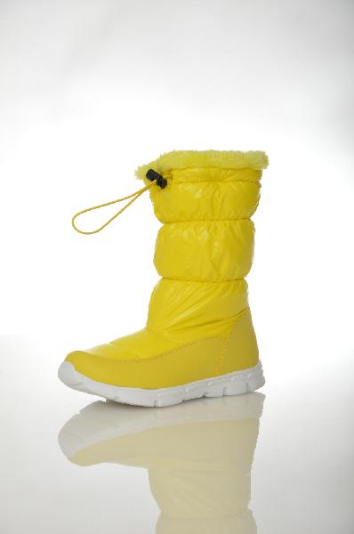 женские сапоги на каблуке patrol, желтые