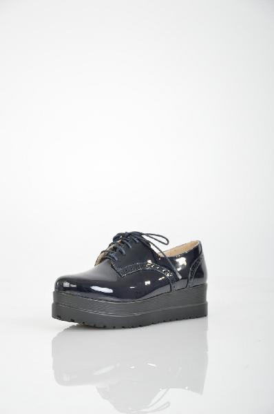женские ботинки на каблуке makfly, синие