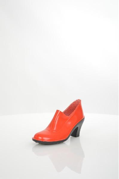 женские ботильоны на каблуке sandra, красные