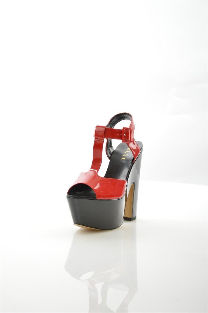 женские босоножки на каблуке elsi, красные