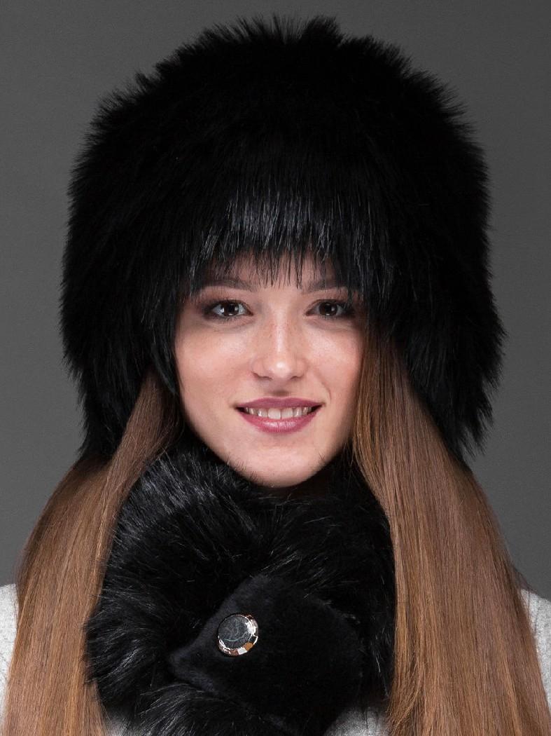 Купить Шапка снопик под лису ZIMA, БЕЛАРУСЬ, Черный, Акрил, ЗИМА, Осень-зима