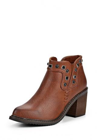 женские ботильоны на каблуке gioseppo, коричневые
