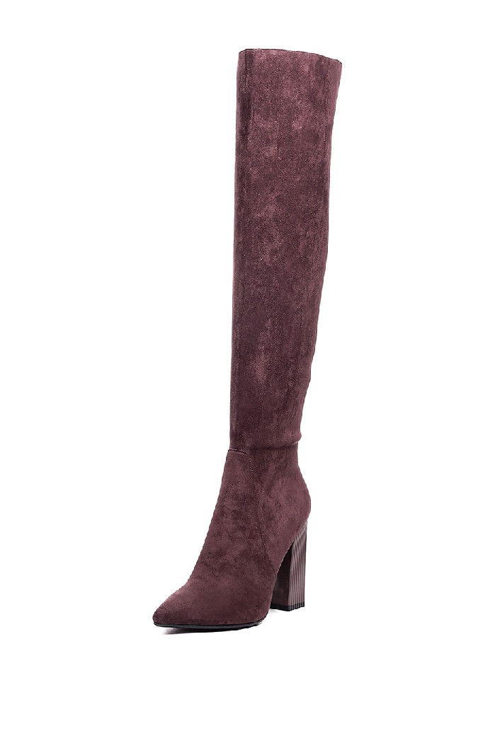 женские ботфорты на каблуке vitacci, коричневые