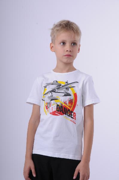 футболка incity для мальчика, белая
