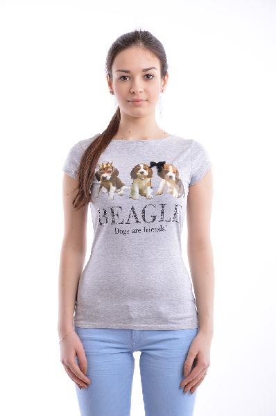 женская футболка с круглым вырезом bestia, серая