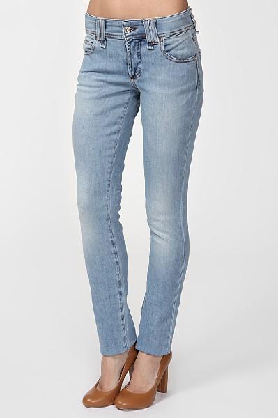 женские джинсы galliano, голубые