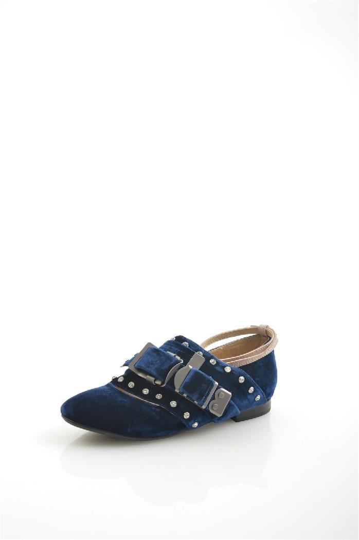 женские туфли на каблуке grand style, синие