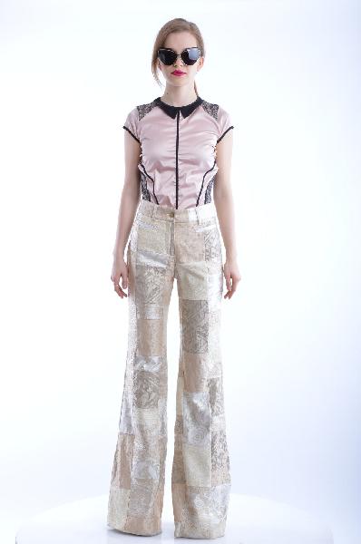 женские классические брюки dolce & gabbana, бежевые