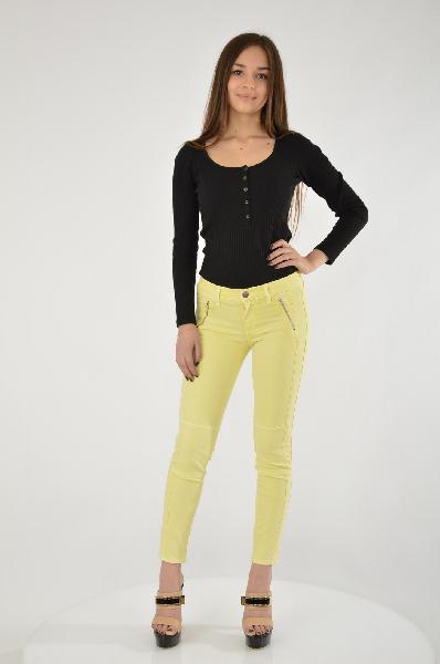женские брюки french connection, желтые