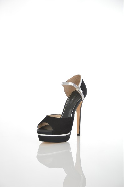 женские босоножки на каблуке paolo conte, черные