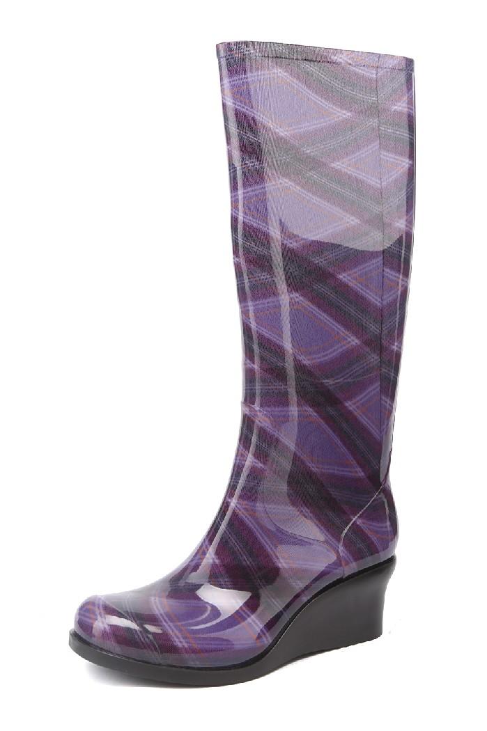 женские резиновые сапоги g&g, фиолетовые