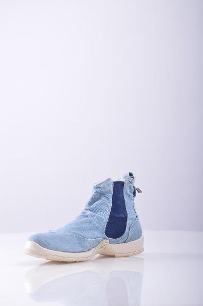 женские ботинки на каблуке 9.2 by carlo chionna, голубые