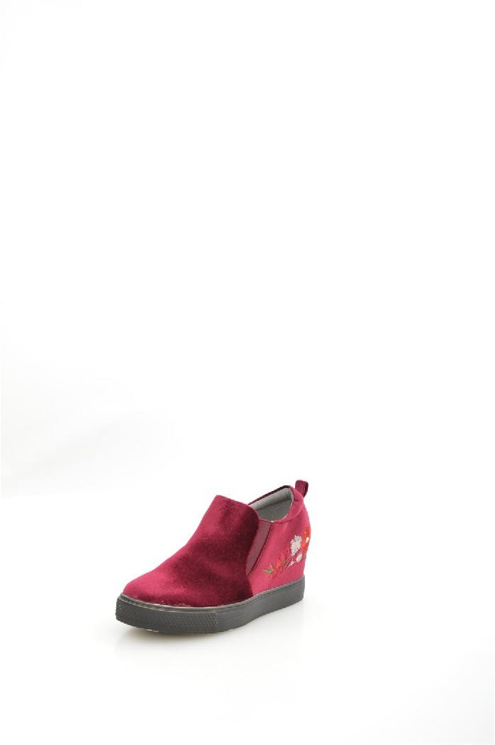 женские ботильоны на каблуке mellisa, бордовые