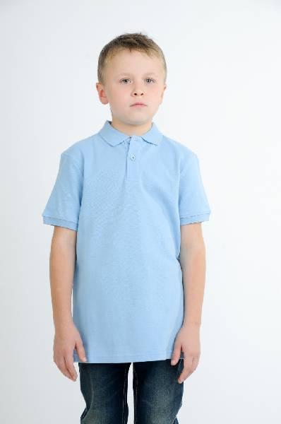 поло с коротким рукавом incity для мальчика, голубое