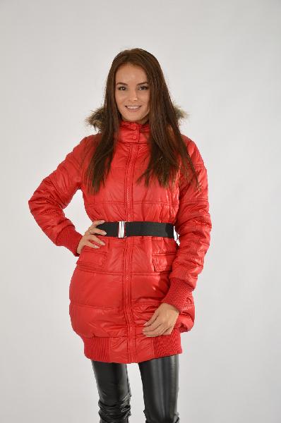 женская куртка troll, красная