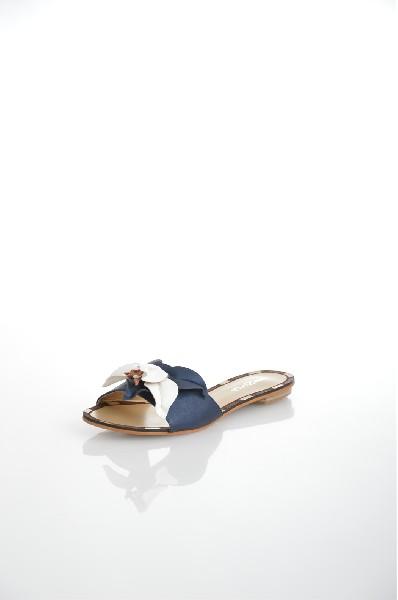 женское сабо на каблуке amazonga, синее