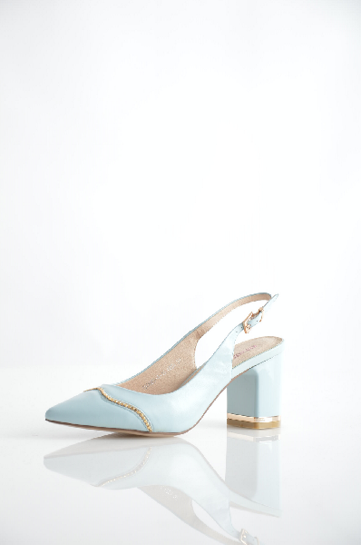 женские босоножки на каблуке renaissance, голубые