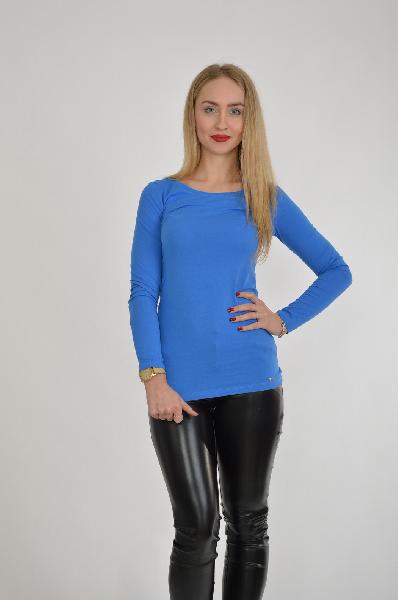 женская футболка mohito, синяя