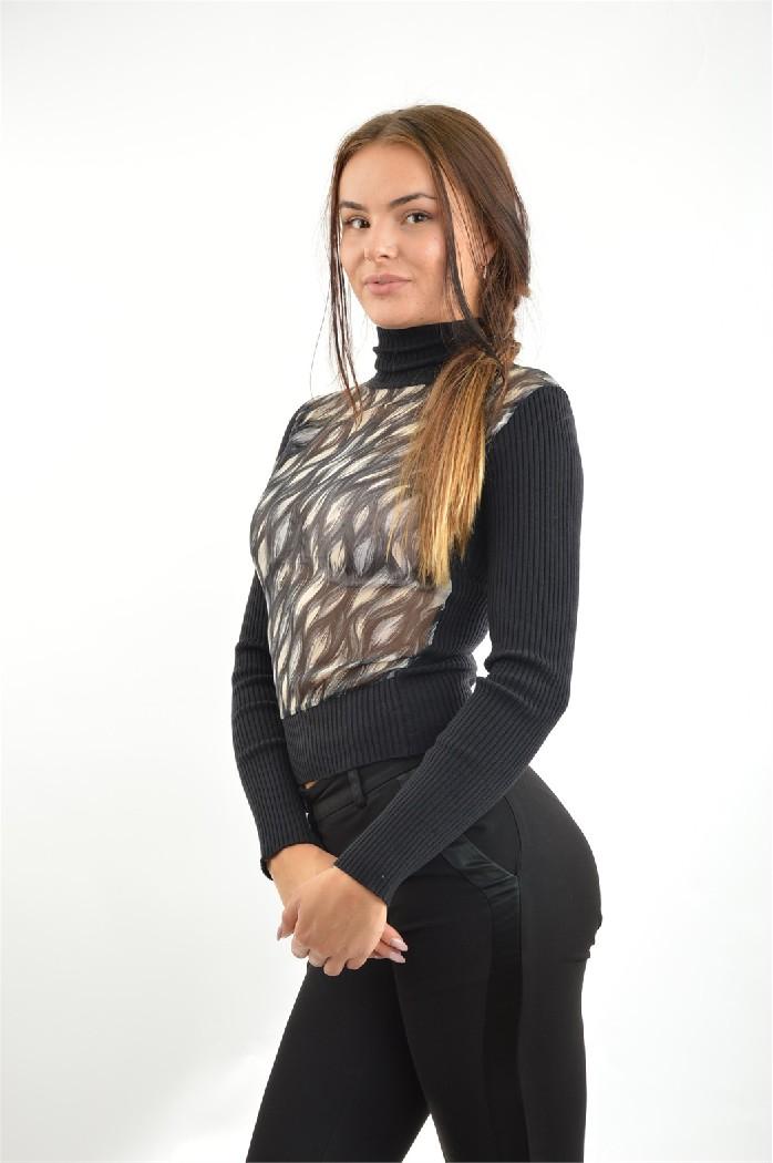 женская водолазка john richmond, черная