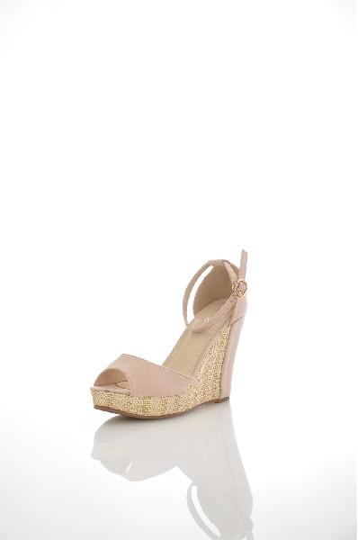 женские босоножки на каблуке amazonga, бежевые