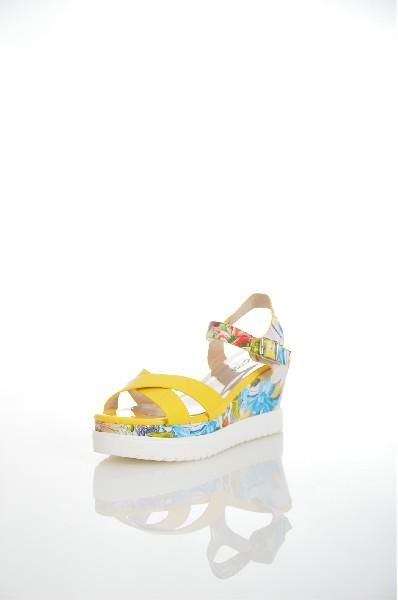 женские босоножки на каблуке amazonga, желтые