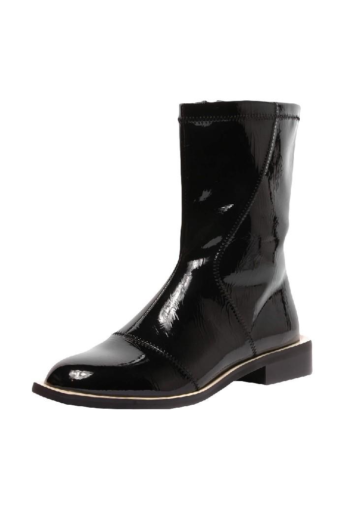 женские полусапожки на каблуке vitacci, черные