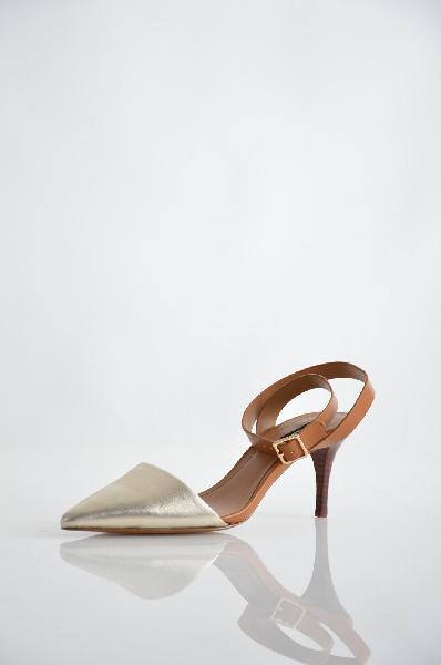 женские туфли на каблуке mango, коричневые