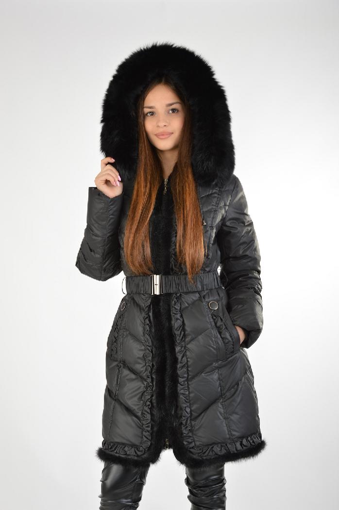женское пальто la reine blanche, черное