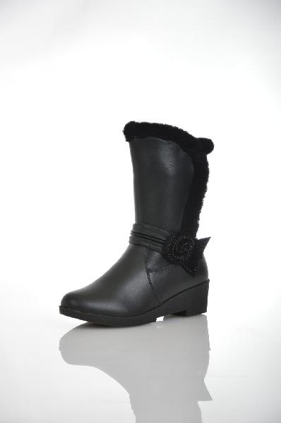 сапоги на каблуке makfly для девочки, черные