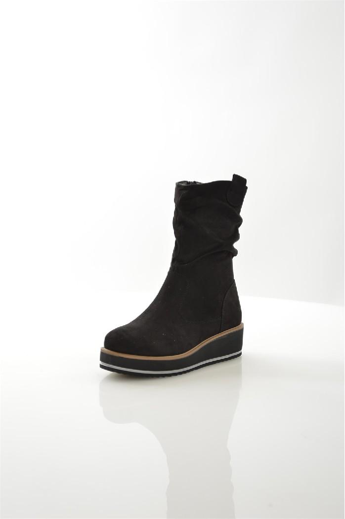 женские полусапожки на каблуке ideal, черные