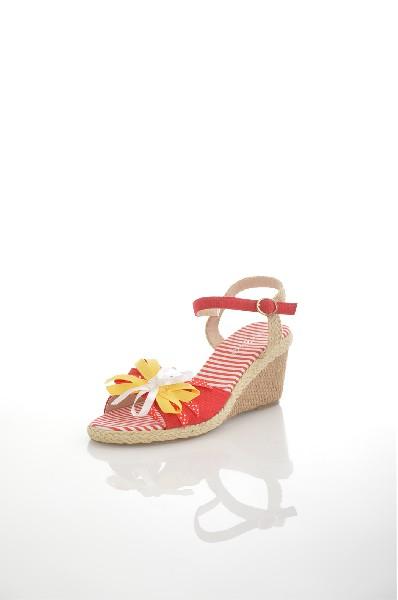 женские босоножки на каблуке amazonga, красные