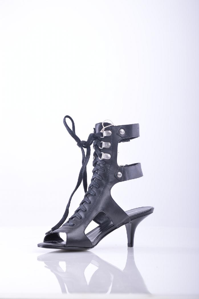 женские полусапожки на каблуке guess, черные