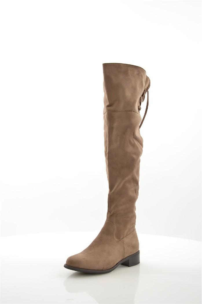 женские ботфорты на каблуке queen vivi, коричневые