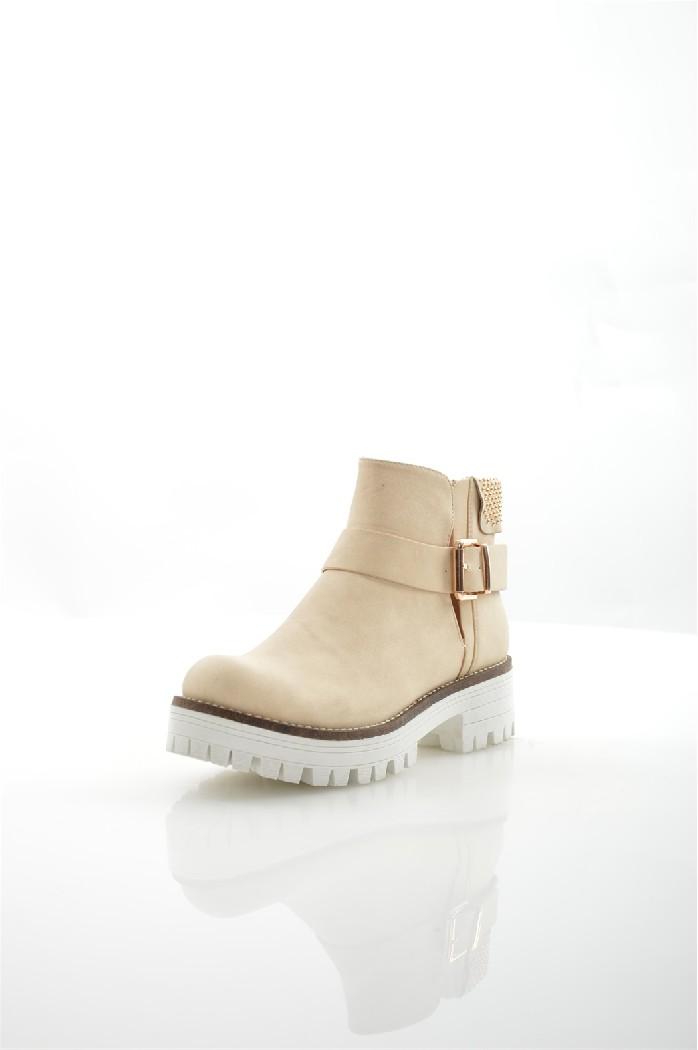 женские ботинки на каблуке item black, бежевые