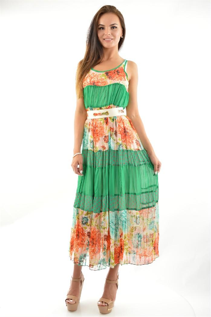 Купить Платье A-DRESS, РОССИЯ, Разноцветный, Хлопок, МУЛЬТИ, Весна-лето