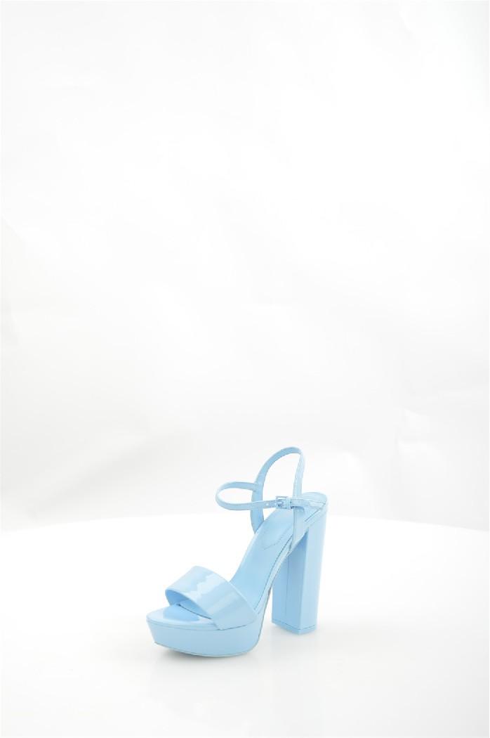 женские босоножки на каблуке aldo, голубые