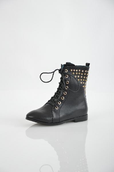 ботинки на каблуке vitacci для девочки, черные