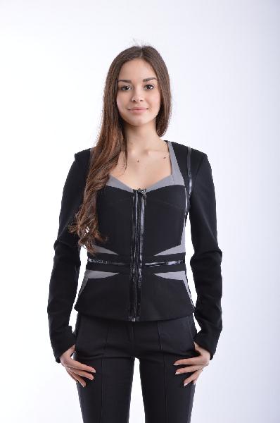 женский пиджак roccobarocco, черный
