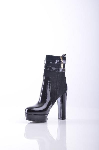 женские полусапожки на каблуке galliano, черные