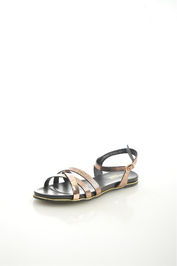 женские босоножки на каблуке capriseelite, золотые