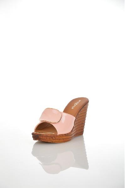 женское сабо на каблуке amazonga, розовое