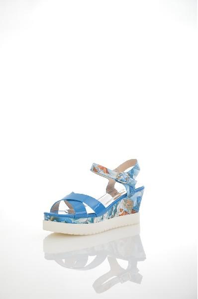 женские босоножки на каблуке amazonga, голубые