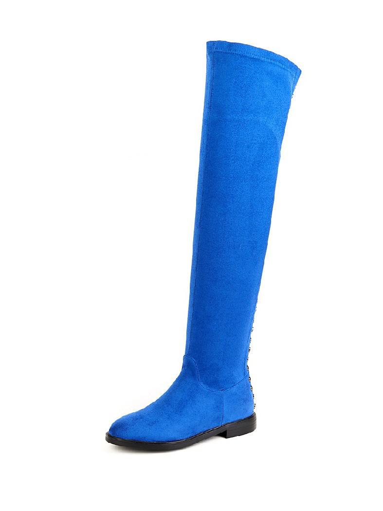 женские ботфорты на каблуке havin, синие