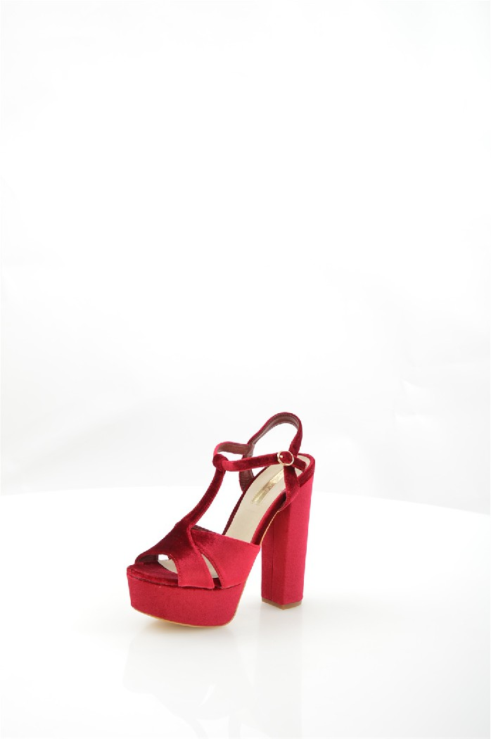 женские босоножки на каблуке mellisa, бордовые